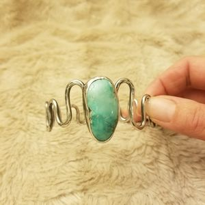 Jewelry - Sterling Silver and Turquoise Bangle Bracelet